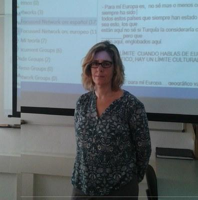 Visita de Antonia María Ruiz Jiménez, Profesora Titular de la Universidad Pablo de Olavide de Sevilla y especialista en el análisis de datos con ATLAS