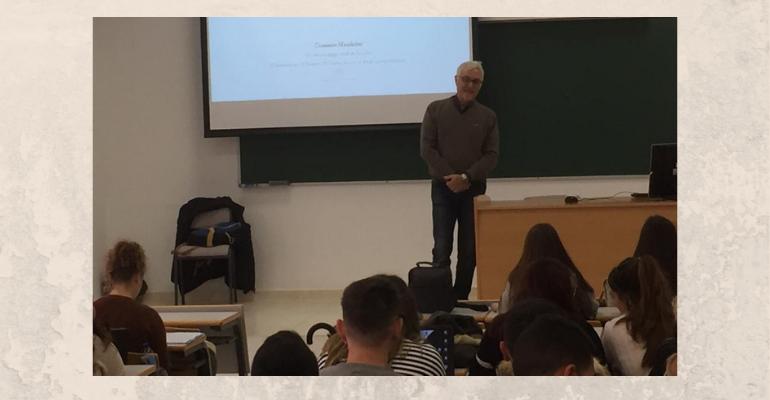 Visita y conferencias del Doctor Domenico Maddaloni, Profesor e Investigador de la Universidad de Salerno (Italia)