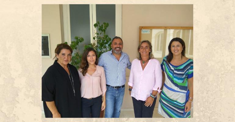 Visita del Paolo Diana y de María Carmela Catone. Universidad de Salerno (Italia)
