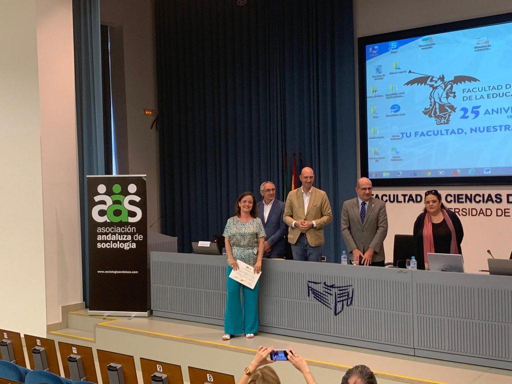 Raquel Pastor Yuste, profesora de la Facultad de Derecho de la Universidad de Cádiz y miembro del Grupo de Investigación Trabajo Política y Género, recibe la Mención de Calidad 2017 que otorga la Asociación Andaluza de Sociología en reconocimiento a la calidad de artículos publicados en revistas científicas